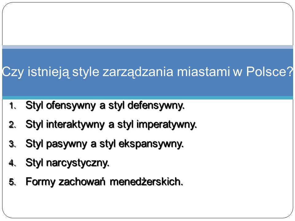 Czy istnieją style zarządzania miastami w Polsce