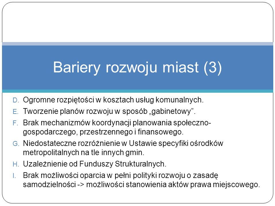 Bariery rozwoju miast (3)