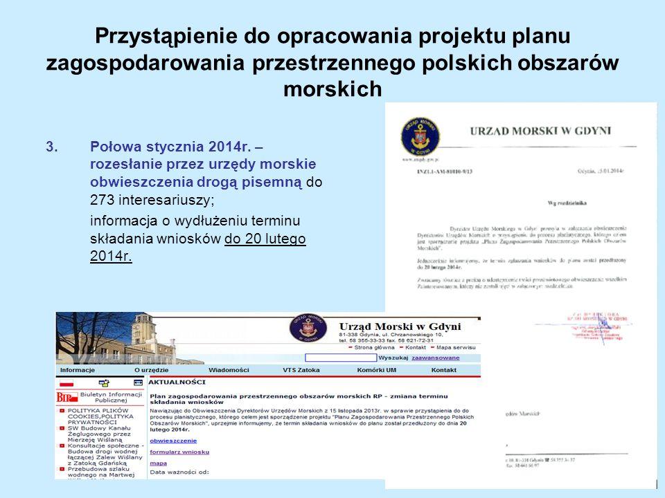 Przystąpienie do opracowania projektu planu zagospodarowania przestrzennego polskich obszarów morskich