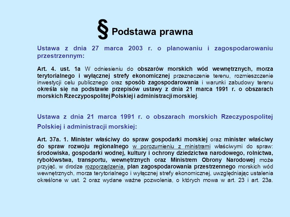 § Podstawa prawna Ustawa z dnia 27 marca 2003 r. o planowaniu i zagospodarowaniu przestrzennym: