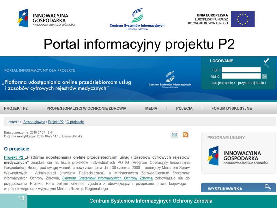 Portal informacyjny projektu P2