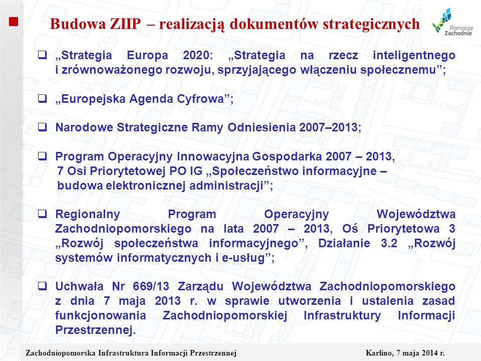 Budowa ZIIP – realizacją dokumentów strategicznych