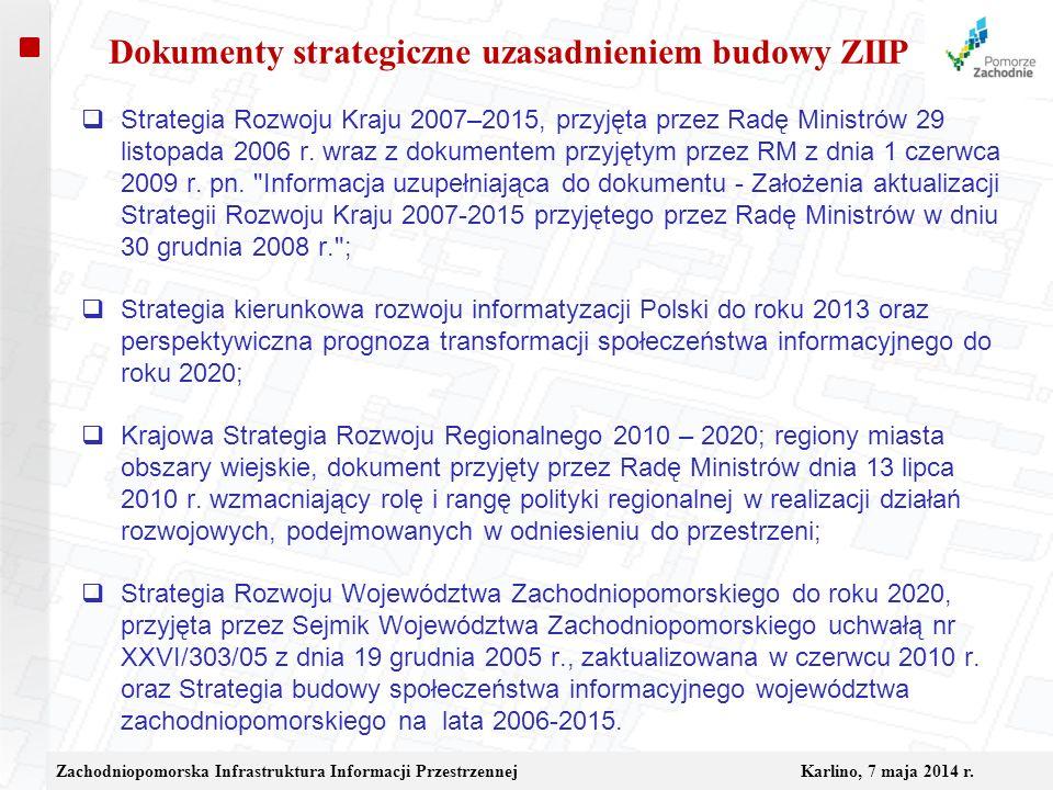 Dokumenty strategiczne uzasadnieniem budowy ZIIP