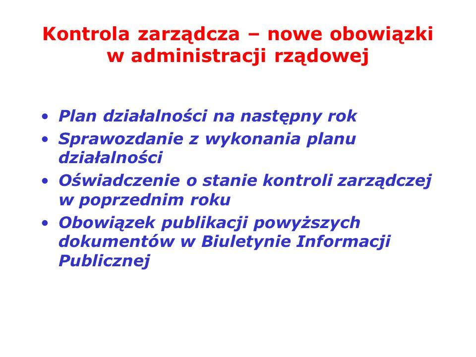 Kontrola zarządcza – nowe obowiązki w administracji rządowej