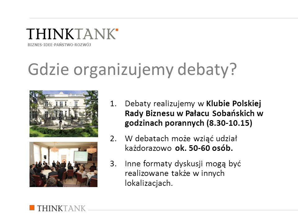 Gdzie organizujemy debaty