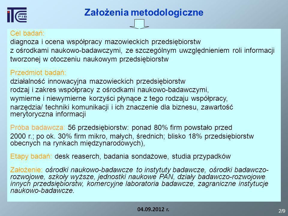 Założenia metodologiczne