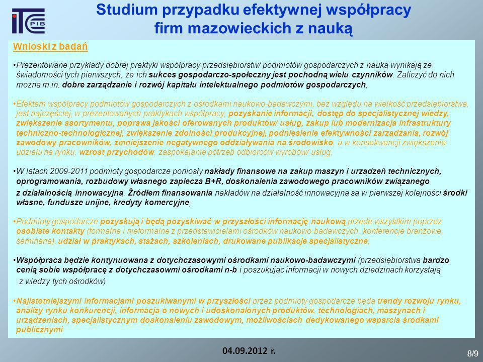 Studium przypadku efektywnej współpracy firm mazowieckich z nauką