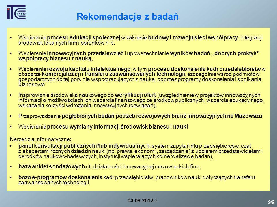 Rekomendacje z badań