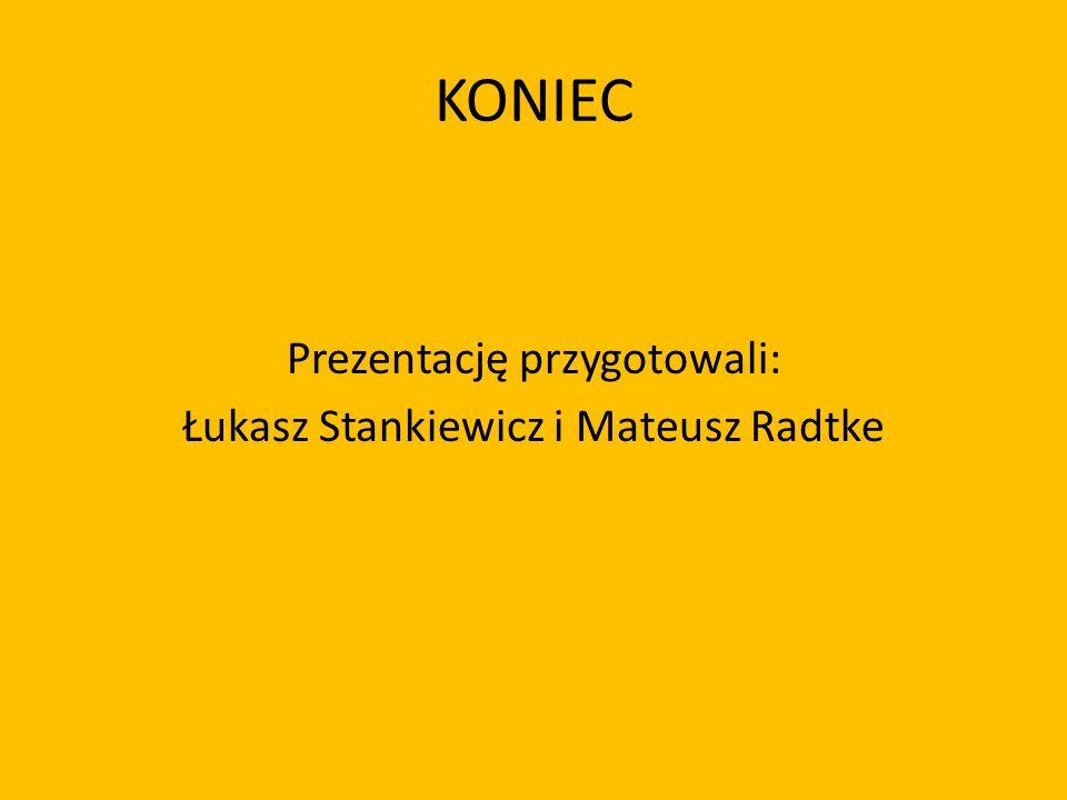 Prezentację przygotowali: Łukasz Stankiewicz i Mateusz Radtke