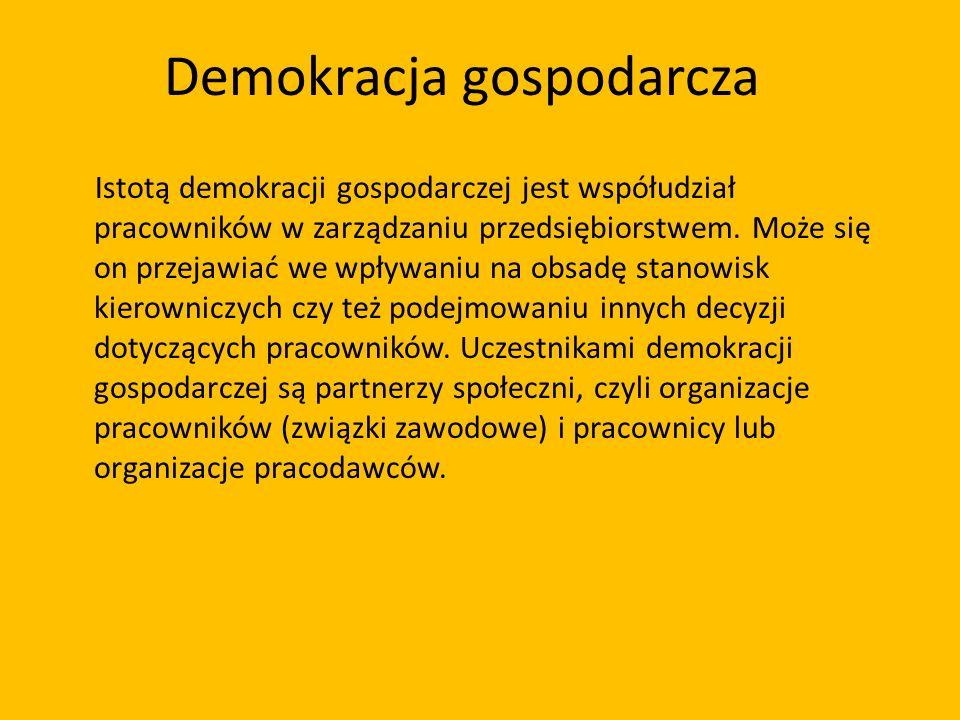 Demokracja gospodarcza