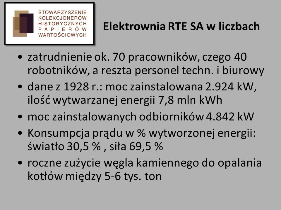 Elektrownia RTE SA w liczbach