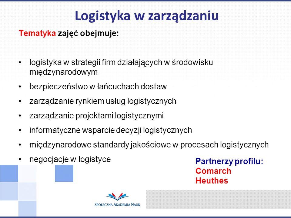 Logistyka w zarządzaniu