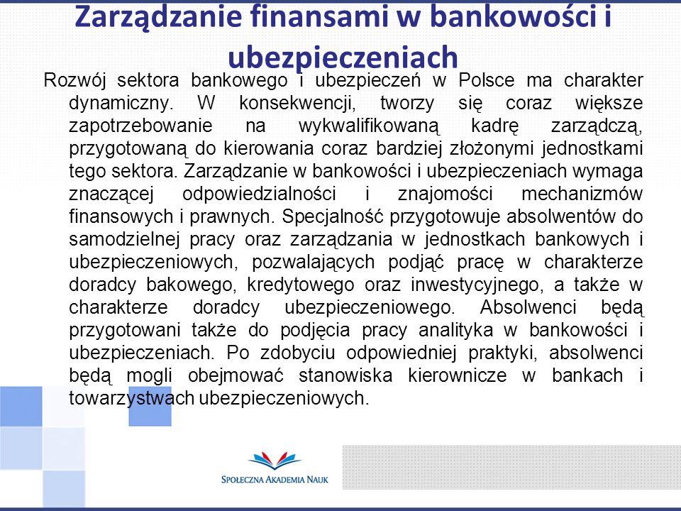 Zarządzanie finansami w bankowości i ubezpieczeniach