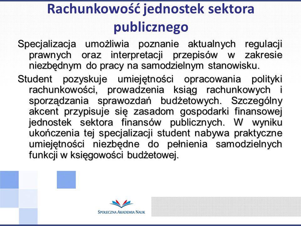 Rachunkowość jednostek sektora publicznego
