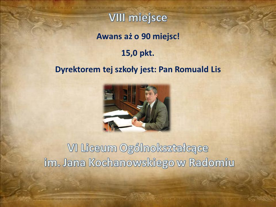 VI Liceum Ogólnokształcące im. Jana Kochanowskiego w Radomiu