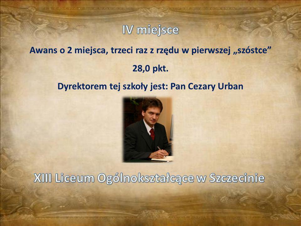 IV miejsce XIII Liceum Ogólnokształcące w Szczecinie