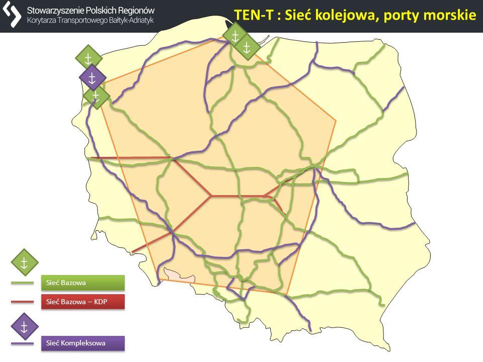 TEN-T : Sieć kolejowa, porty morskie