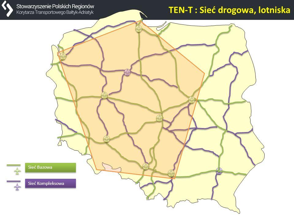 TEN-T : Sieć drogowa, lotniska