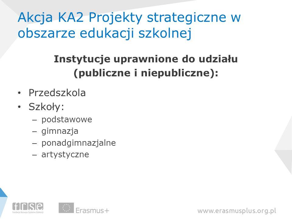 Akcja KA2 Projekty strategiczne w obszarze edukacji szkolnej