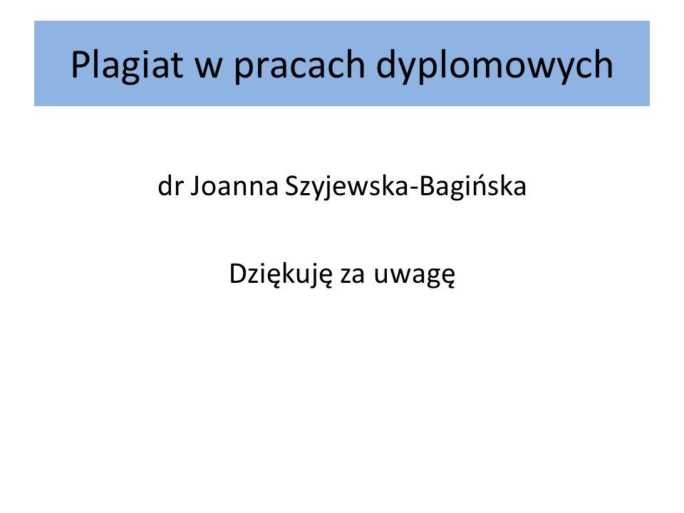 Plagiat w pracach dyplomowych