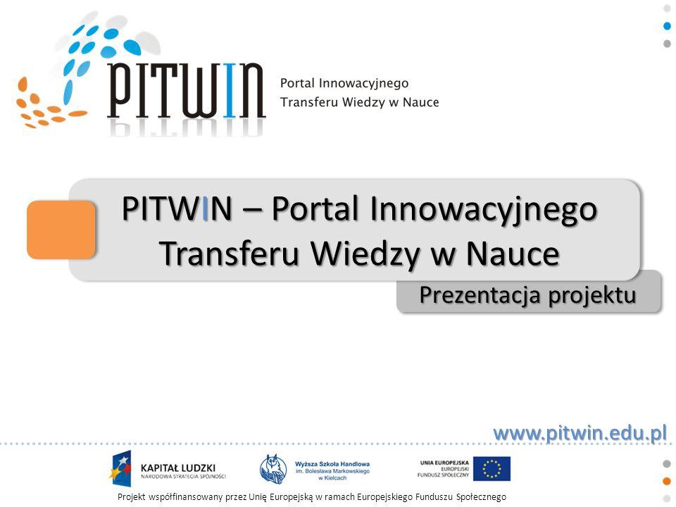 PITWIN – Portal Innowacyjnego Transferu Wiedzy w Nauce