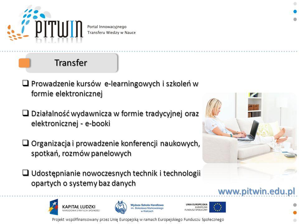 Transfer Prowadzenie kursów e-learningowych i szkoleń w