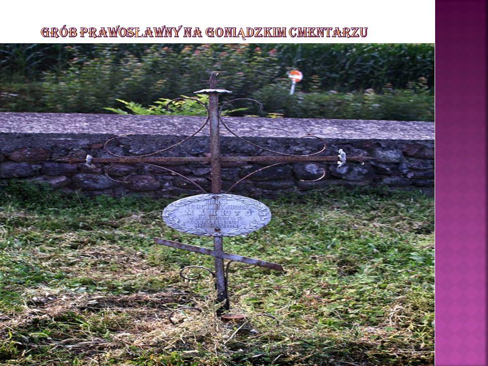 Grób prawosławny na goniądzkim cmentarzu