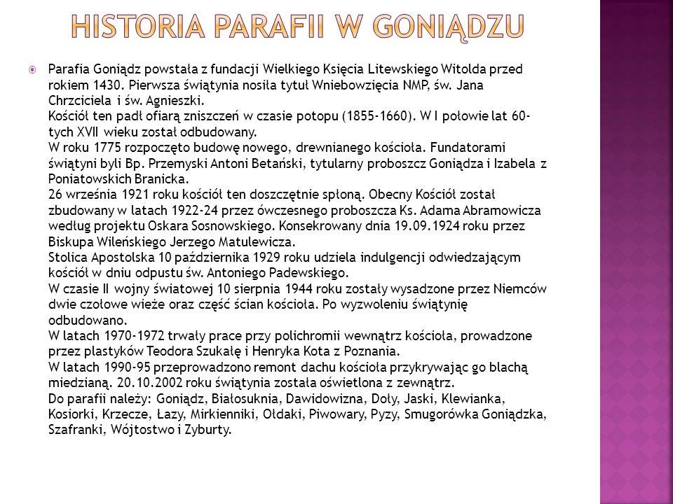 Historia parafii w Goniądzu