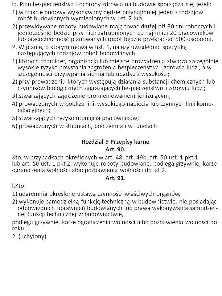 Rozdział 9 Przepisy karne