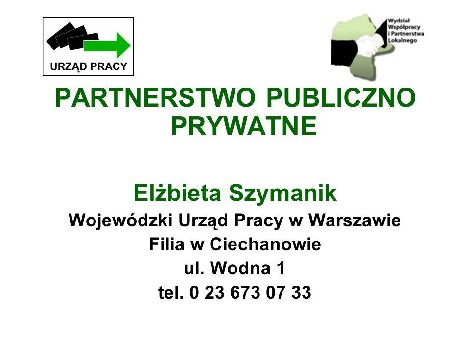 PARTNERSTWO PUBLICZNO PRYWATNE Wojewódzki Urząd Pracy w Warszawie