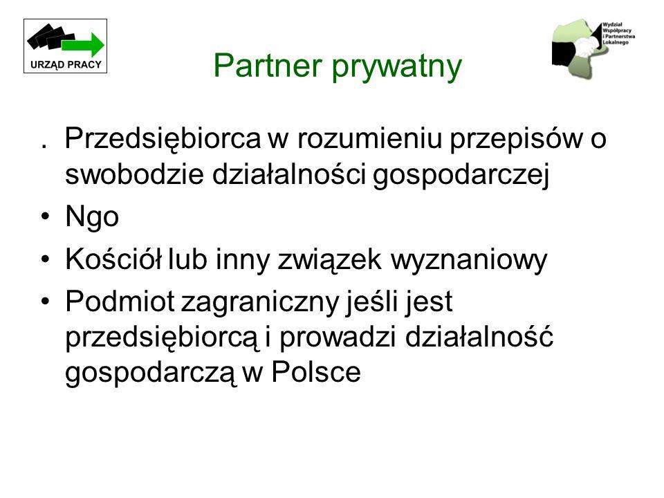 Partner prywatny . Przedsiębiorca w rozumieniu przepisów o swobodzie działalności gospodarczej. Ngo.