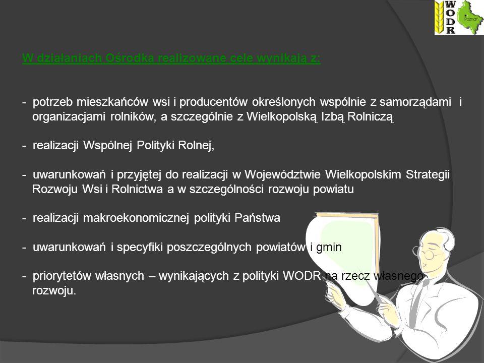 W działaniach Ośrodka realizowane cele wynikają z: