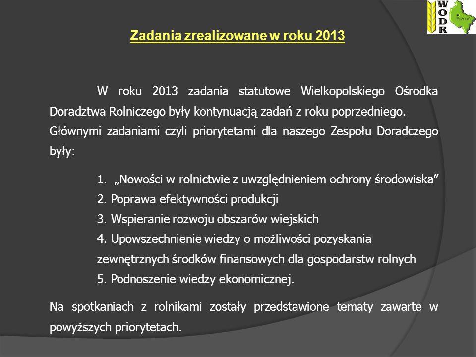 Zadania zrealizowane w roku 2013
