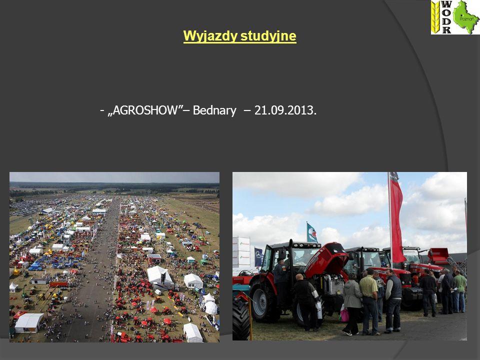 """Wyjazdy studyjne - """"AGROSHOW – Bednary – 21.09.2013."""