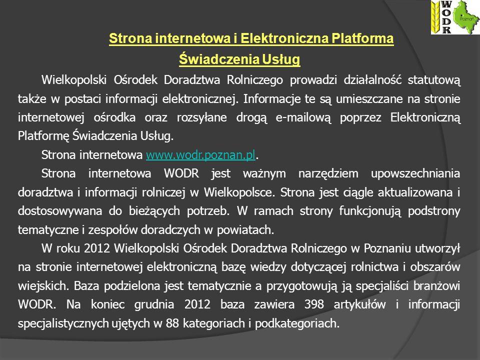 Strona internetowa i Elektroniczna Platforma Świadczenia Usług