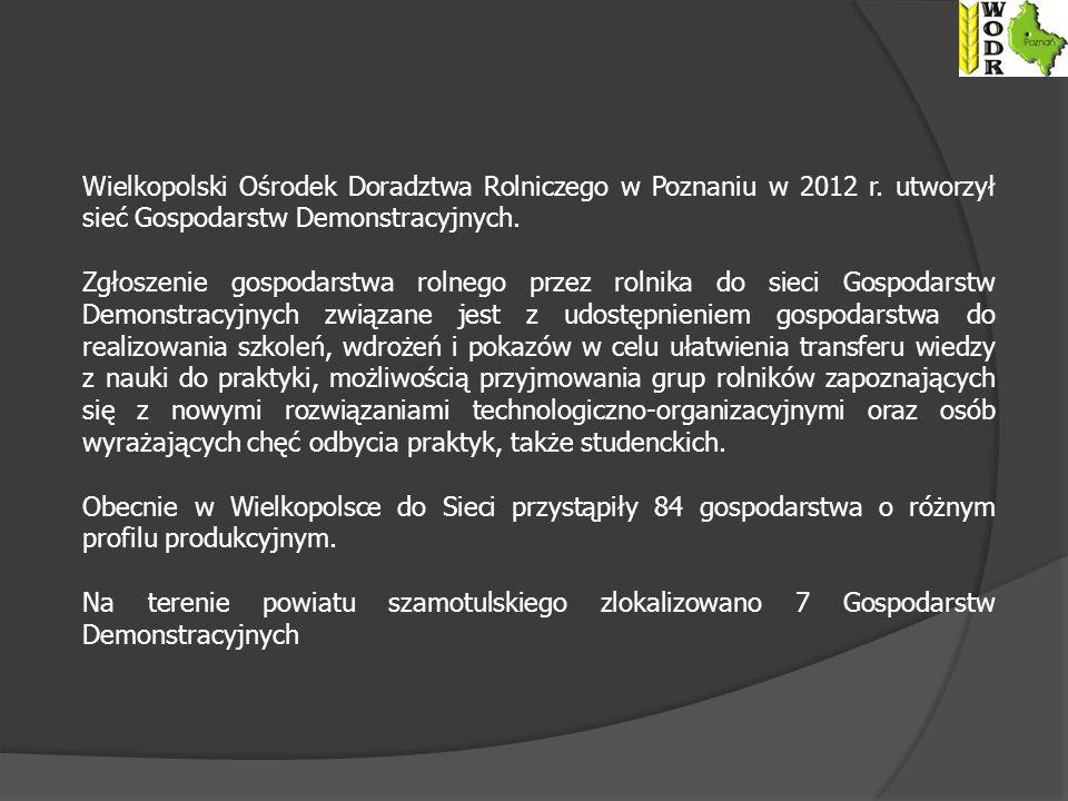 Wielkopolski Ośrodek Doradztwa Rolniczego w Poznaniu w 2012 r