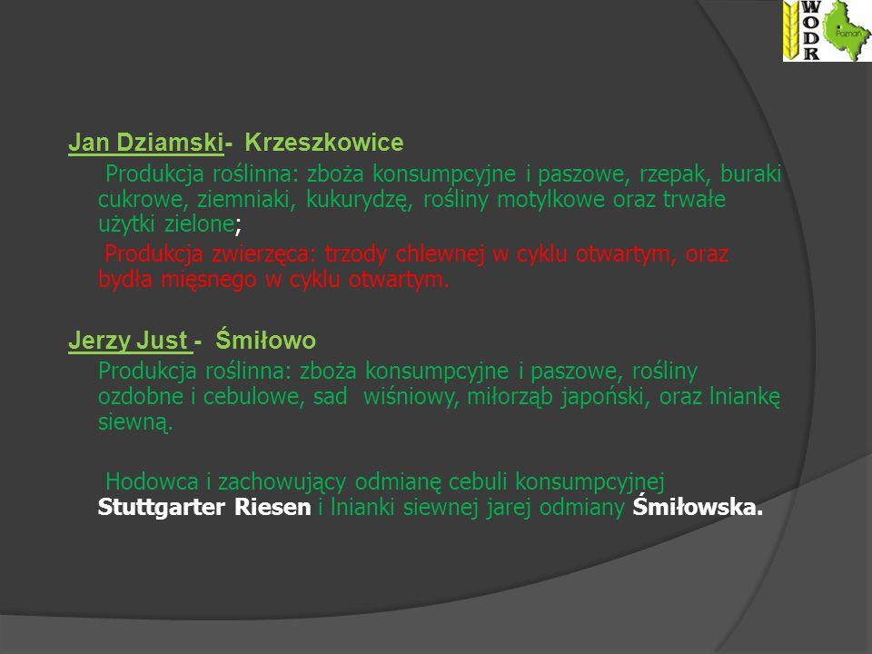 Jan Dziamski- Krzeszkowice