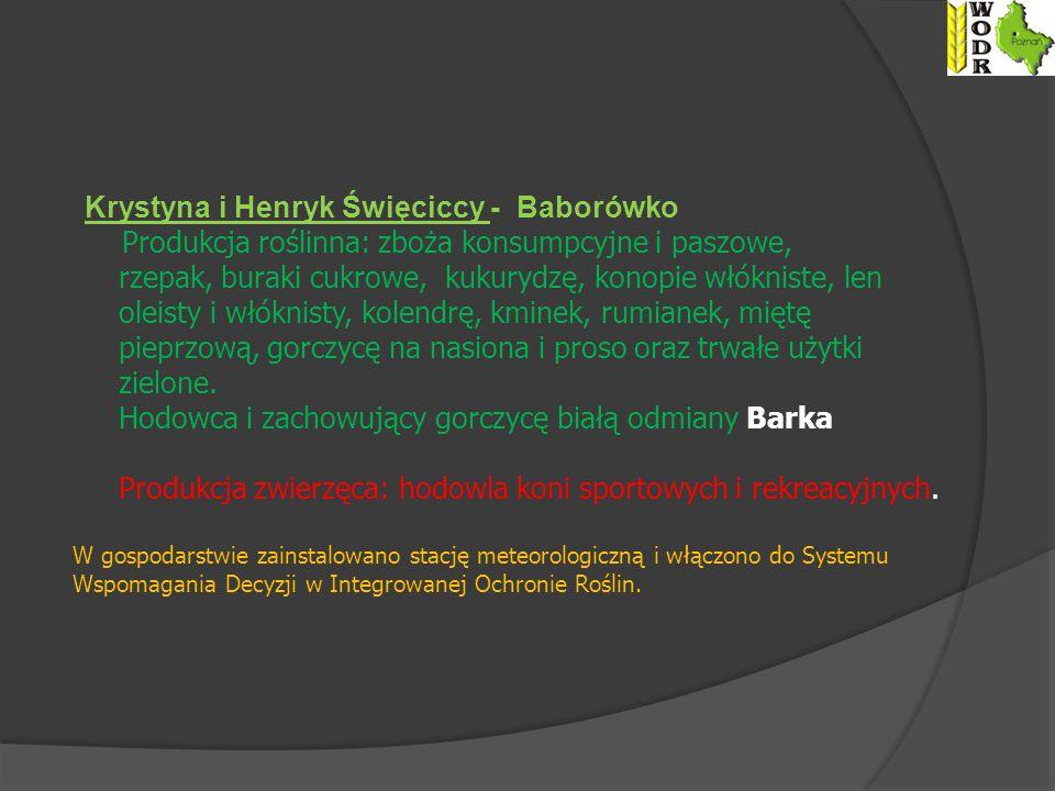 Krystyna i Henryk Święciccy - Baborówko