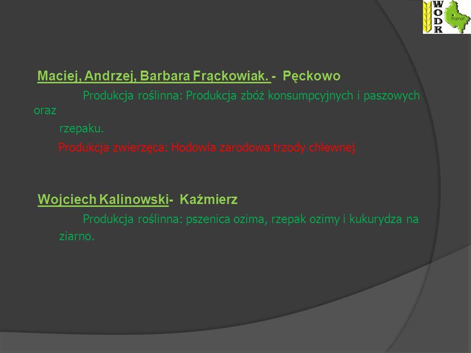 Maciej, Andrzej, Barbara Frąckowiak. - Pęckowo