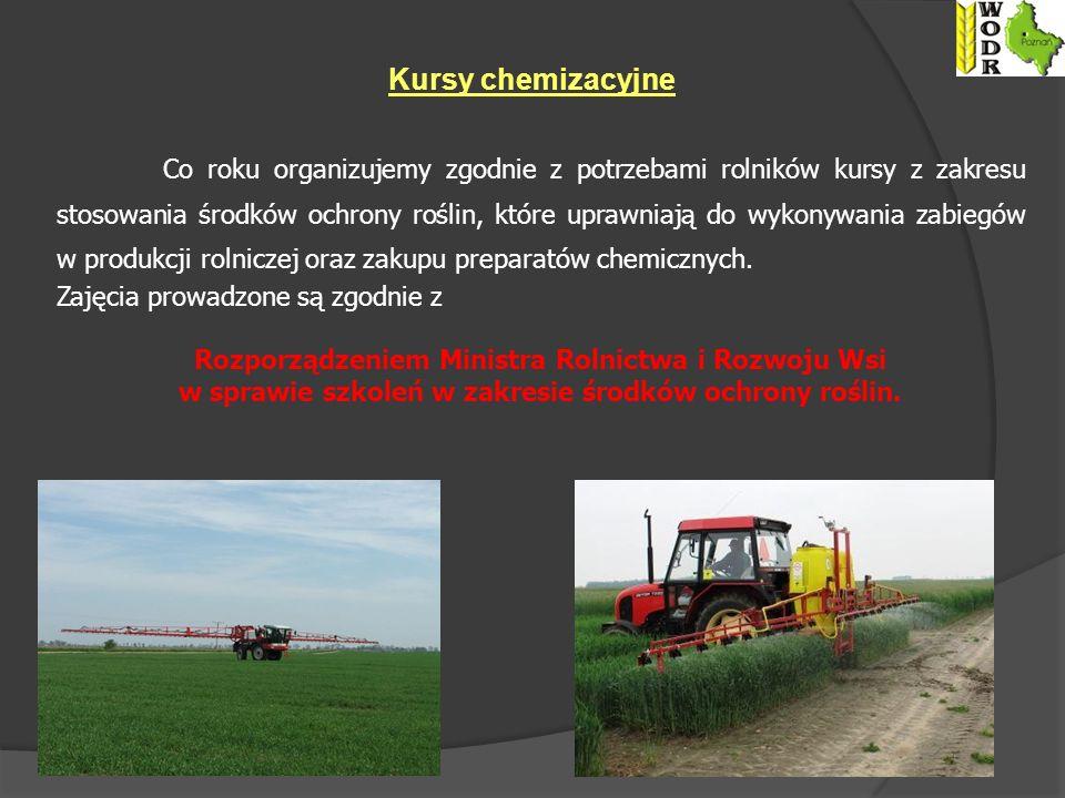 w sprawie szkoleń w zakresie środków ochrony roślin.