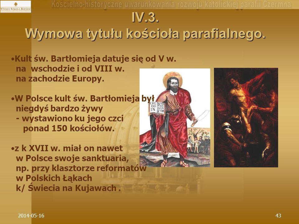 IV.3. Wymowa tytułu kościoła parafialnego.