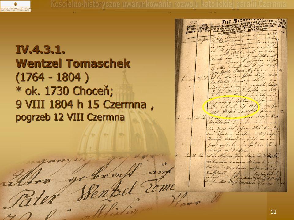 9 VIII 1804 h 15 Czermna , pogrzeb 12 VIII Czermna