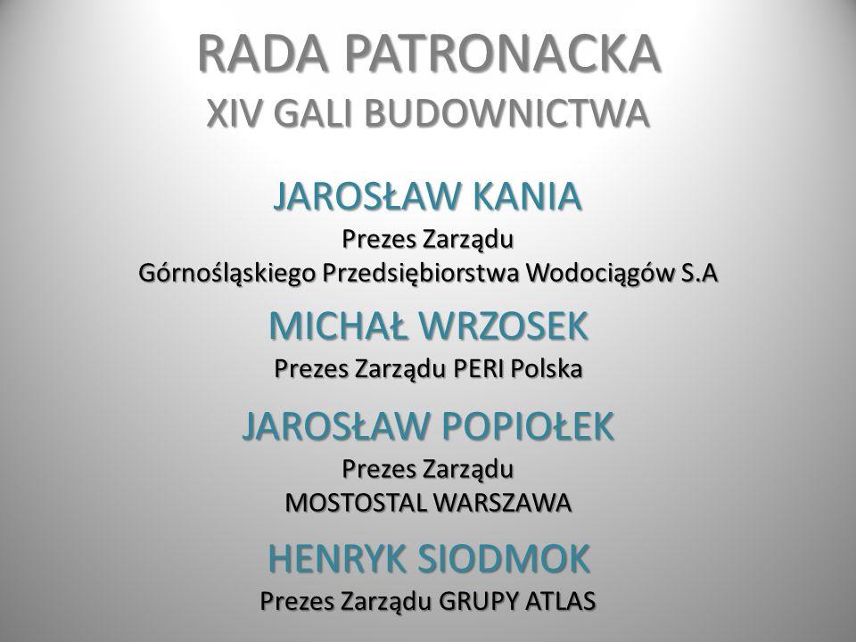 RADA PATRONACKA XIV GALI BUDOWNICTWA