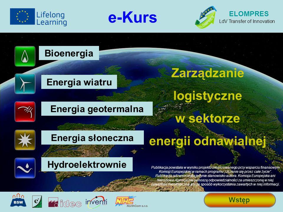 e-Kurs Zarządzanie logistyczne w sektorze energii odnawialnej