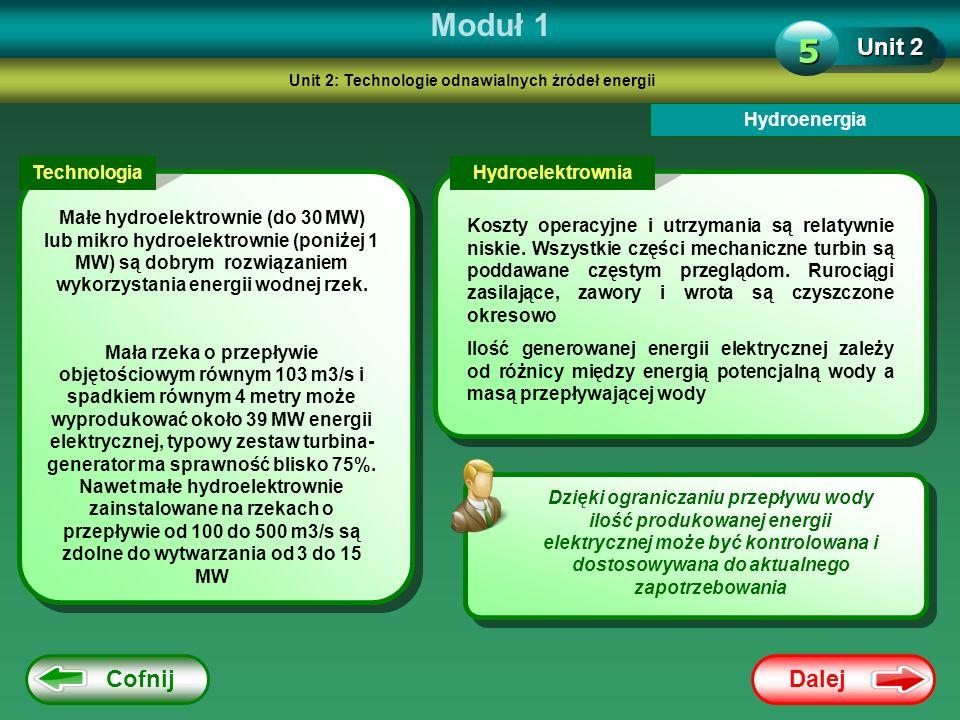Unit 2: Technologie odnawialnych źródeł energii
