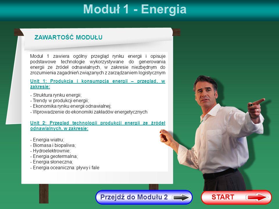 Moduł 1 - Energia Przejdź do Modułu 2 START ZAWARTOŚĆ MODUŁU