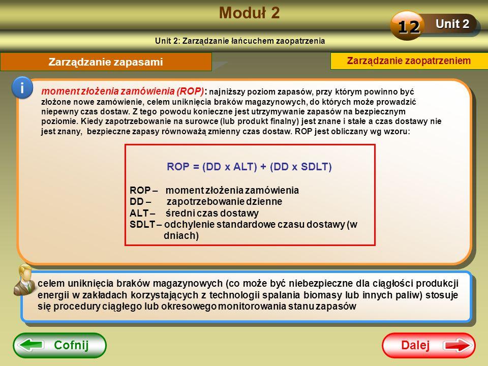 Moduł 2 12 i Unit 2 Cofnij Dalej Zarządzanie zapasami