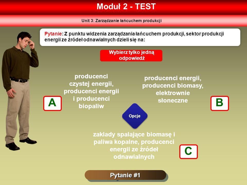 Moduł 2 - TEST Unit 3: Zarządzanie łańcuchem produkcji.