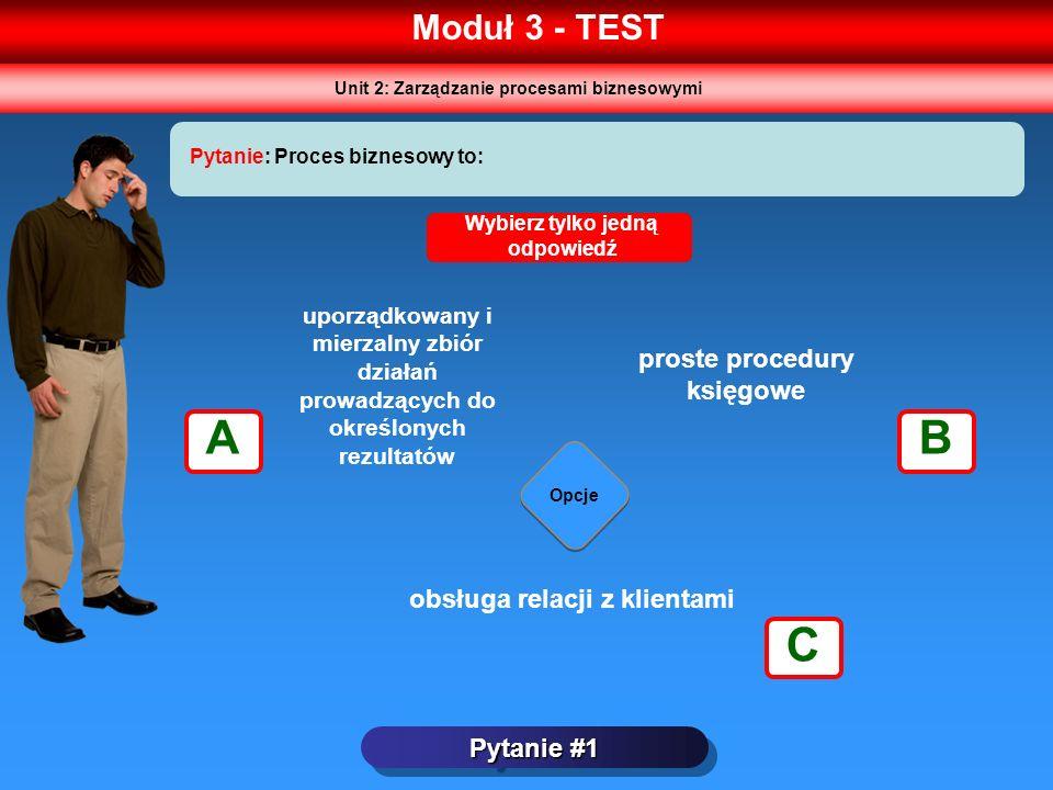 A B C Moduł 3 - TEST proste procedury księgowe