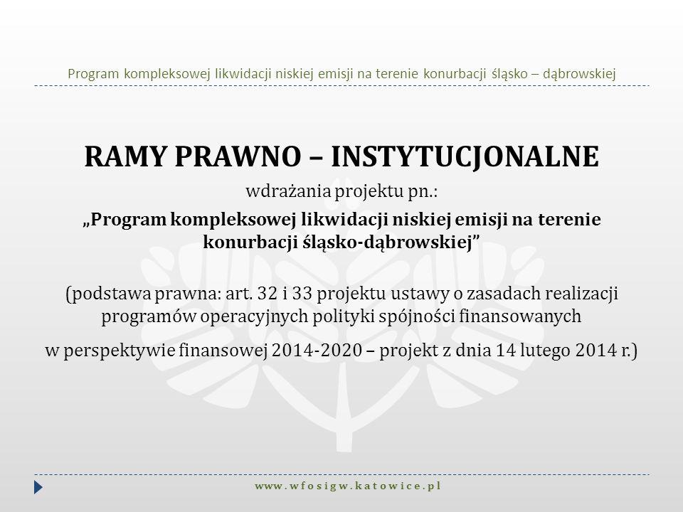 RAMY PRAWNO – INSTYTUCJONALNE